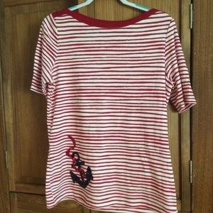 Kim Rogers,L, boat neck top. New without tags.